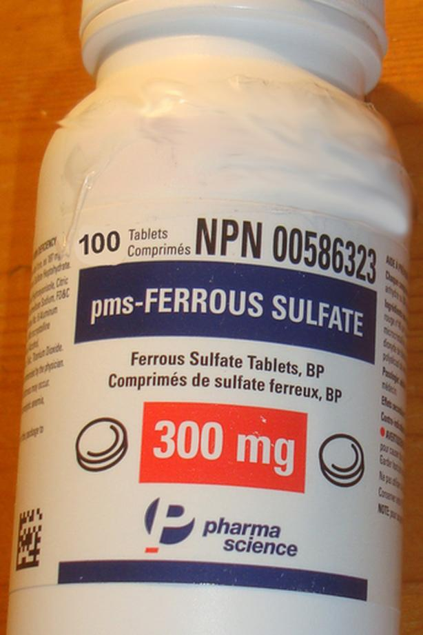 New Ferrous Sulphate 300 mg x 100 tablets/pills - $7