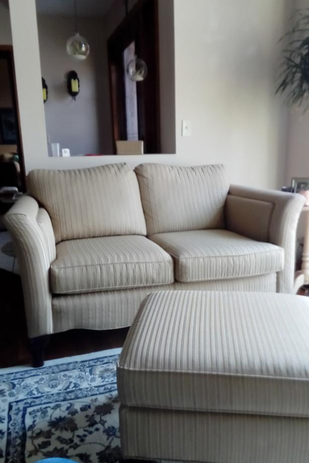 Matching Love seat, Chair, Ottoman