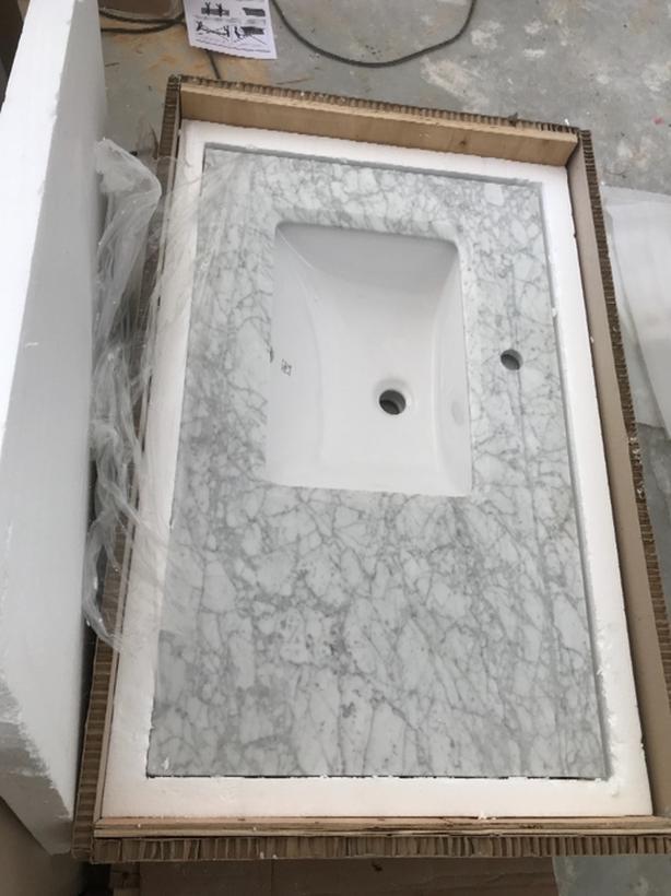 Stupendous New Solid Marble 36 Bathroom Vanity Top Saanich Victoria Beutiful Home Inspiration Semekurdistantinfo