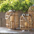 Woven Rattan Rustic Wood Hurricane Candle Lantern Rope Handle Lg&Sm 4 Lot Mixed