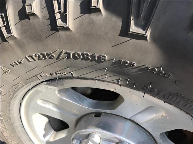 "4 - Goodyear Duratrac Tires.  LT-275-70 - 18"""