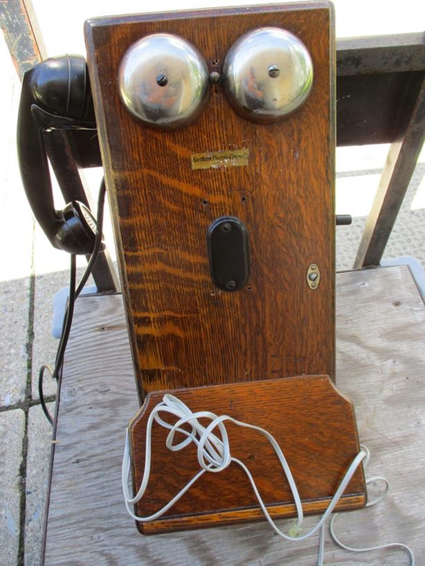OUTSTANDING CONVERTED WALL PHONE FROM ESTATE