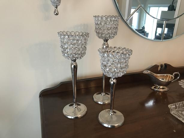 Glitzy Candle holders