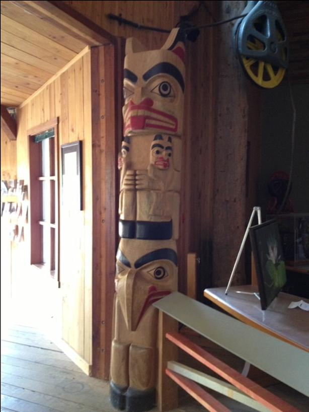 "9'2"" Totem pole by Derald Scoular"