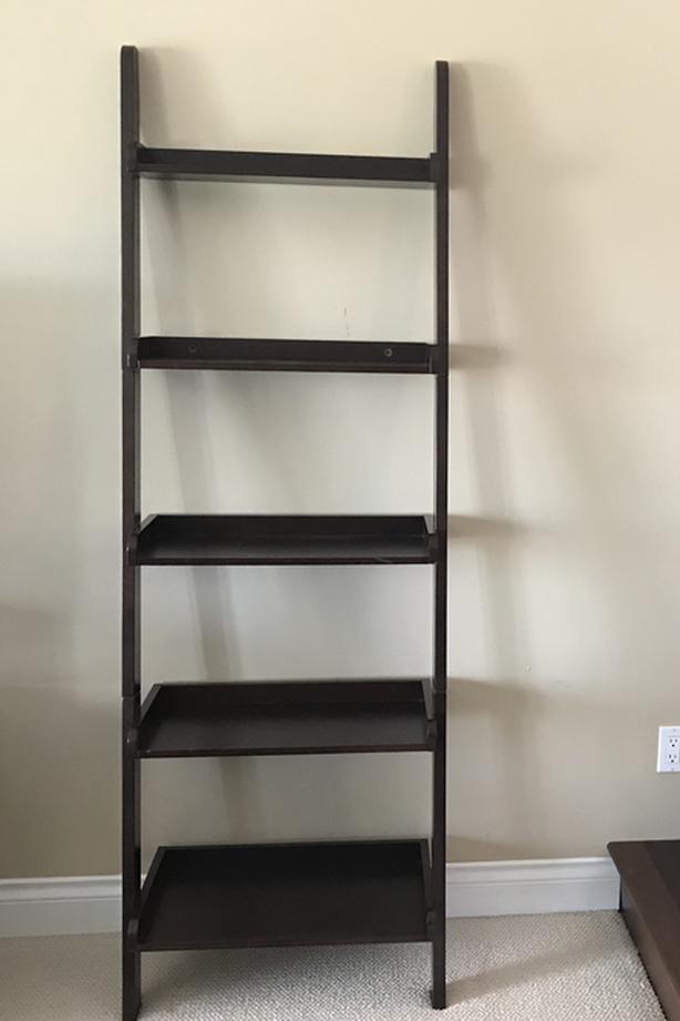 Wall shelf ladder