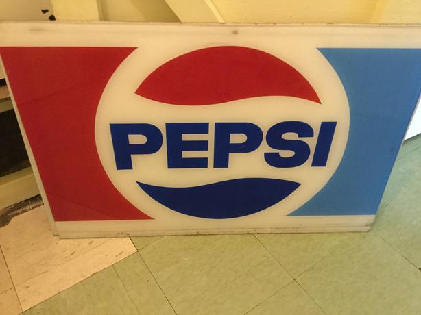 2 1980s Pepsi signs from corner store