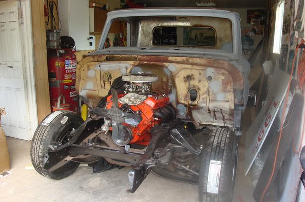 1966 chevy short box fleetside  truck