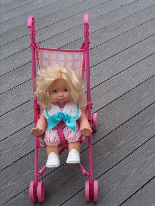 doll,, wanna doll vintage,wheeler stroller