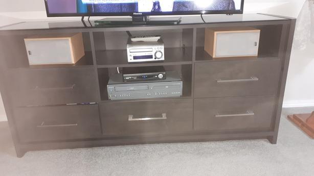 Gorgeous Espresso TV Stand