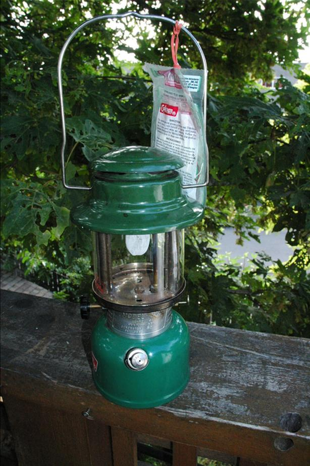 Coleman white gas lantern, and spare parts  Esquimalt & View