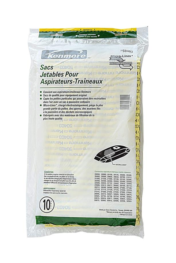 New Kenmore canister vacuum bags