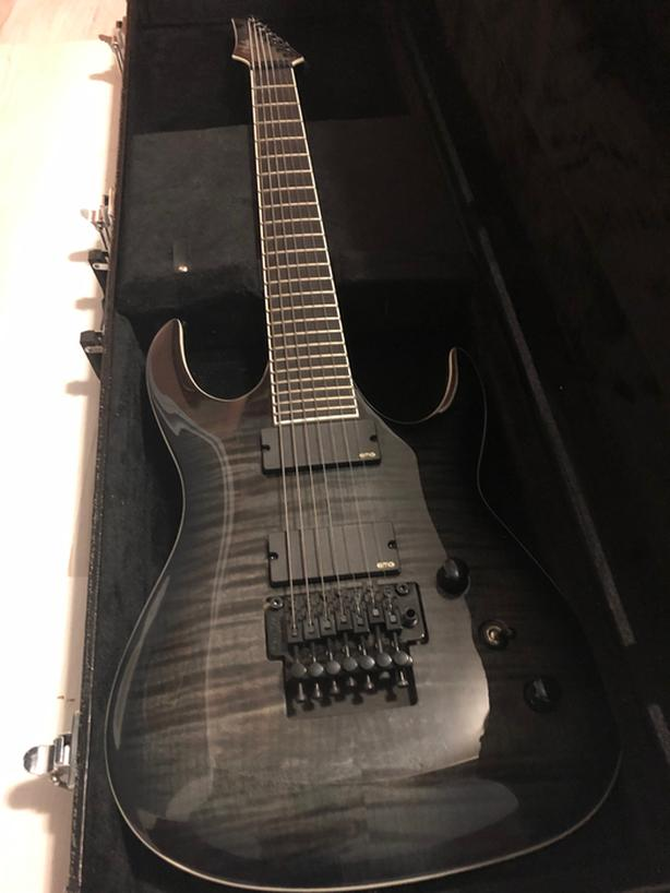 Agile Interceptor Pro 727 Black Flame 7 String Guitar - $550 (Vancouver)