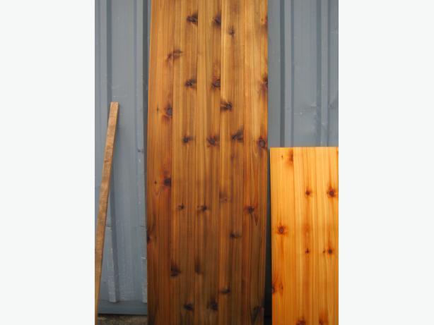 Clearance Sale: Profiled Cedar Siding and Paneling