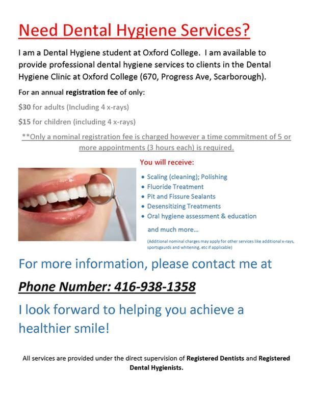 teeth cleaning/ dental hygiene