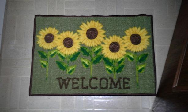 NEW-Sunflower Floor mats -NEW PRICE