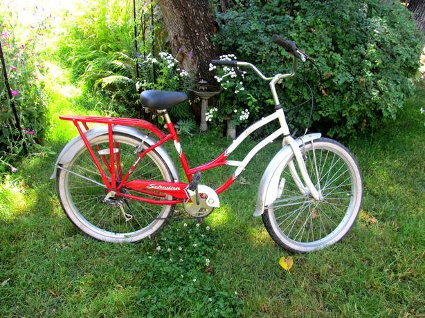  Log In needed $60 · Ladies Schwinn Cruiser Bike Red and White