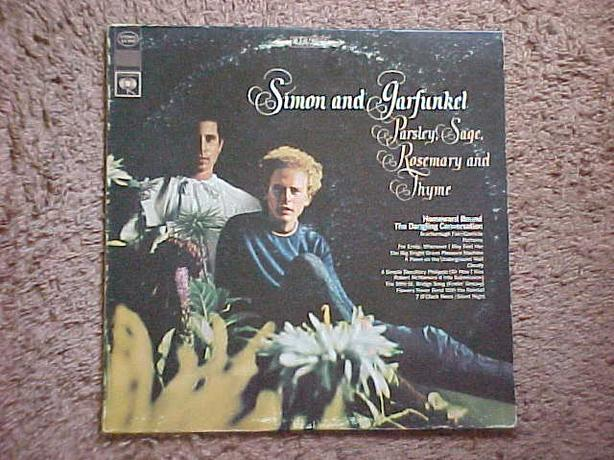 SIMON & GARFUNKEL PARSLEY, SAGE, ROSEMARY AND THYME LP