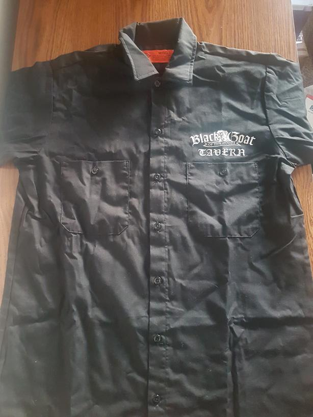 Mens Work shirt: Black Goat of the Woods Tavern