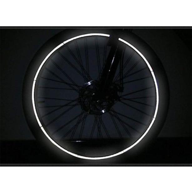 Bicycle Bike Wheel Rim Reflective Safety Strips Stickers - White (Set of 16)