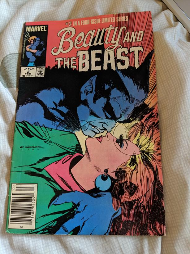 Beauty and The Beast Marvel Comics #2 in a Four-Issue Limited Series 1985