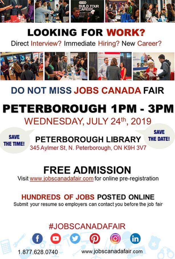 Peterborough Job Fair - July 24th 2019