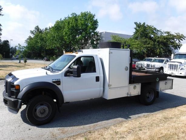 2009 Ford F-550 Regular Cab 4WD DUALLY 7 foot flat deck Diesel