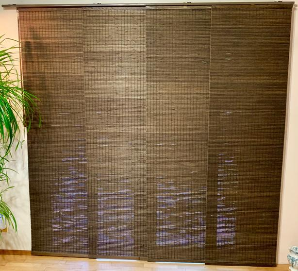 2 SETS OF BAMBOO CURTAINS / BLINDS. Perfect for Balcony Door