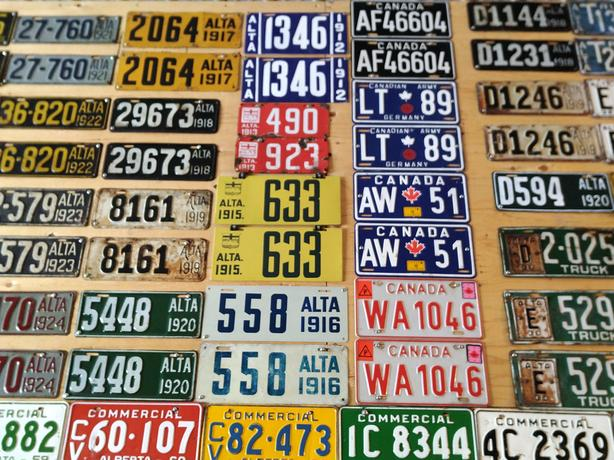 ISO Old Alberta License Plates