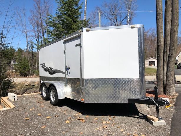 2016 Cargo Mate Blaze Utility Trailor - White