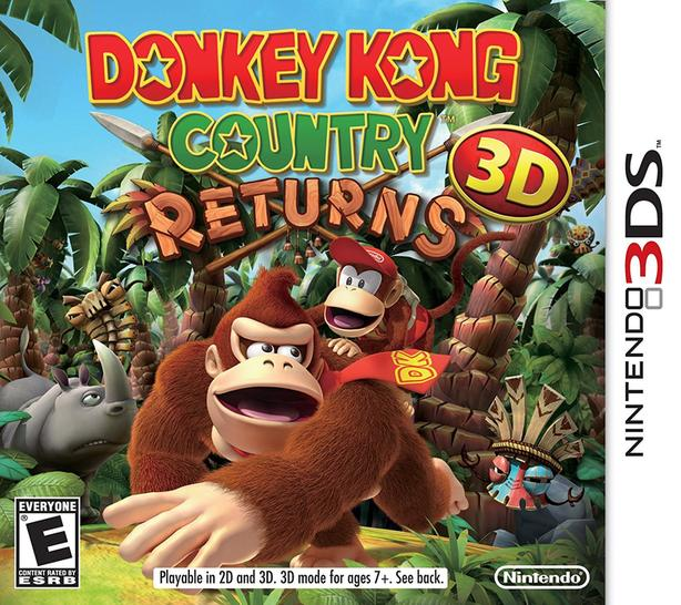 NEW Donkey Kong Country Returns 3D Nintendo 3DS