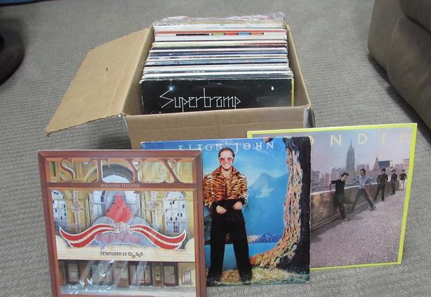 70 Vinyl albums....Classic rock