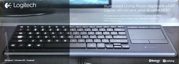 Logitech K830 Illuminated Wireless Keyboard Internet