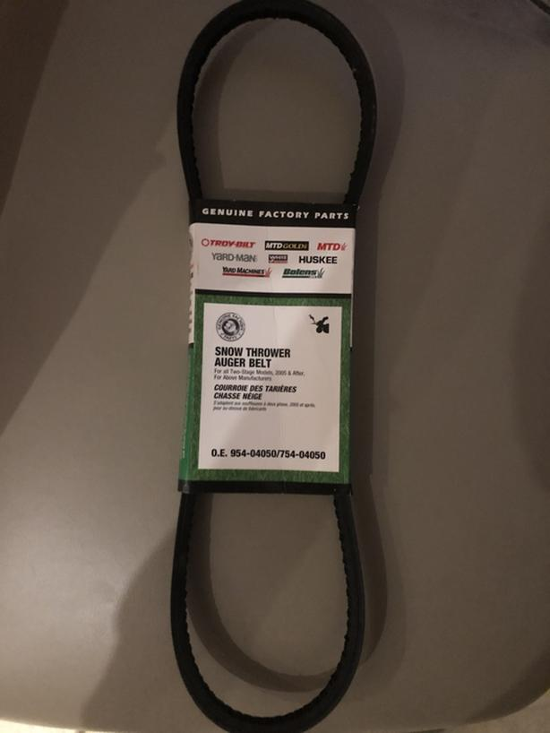 MTD OEM-754-04050 1/2-Inch by 35-Inch Snowthrower Auger Belt