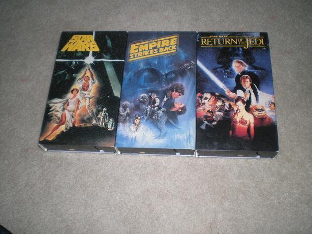 Original Star Wars Triology VHS Set