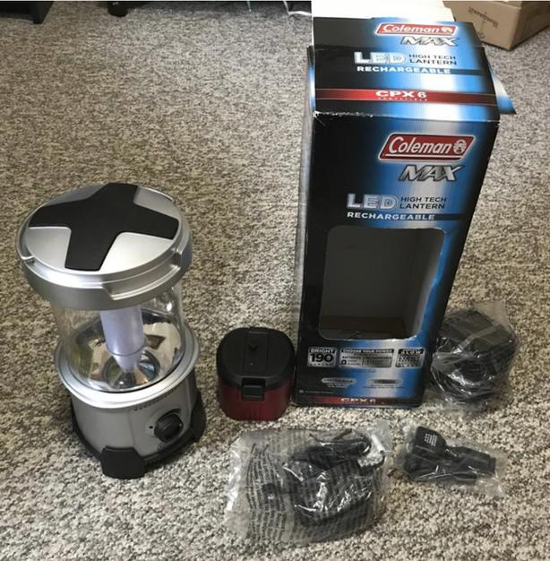 New Led lantern with new rechargeable coleman battery