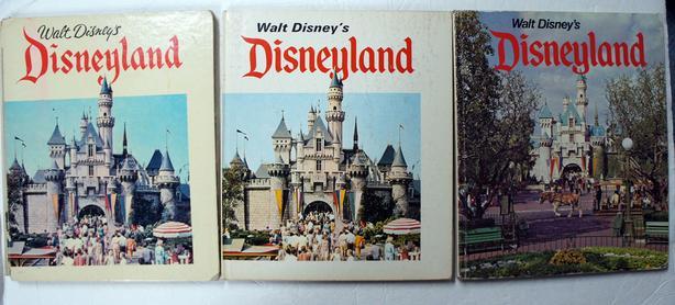 3 Vintage 1969 Disneyland Walt Disney Hardcover Souvenir Books USA