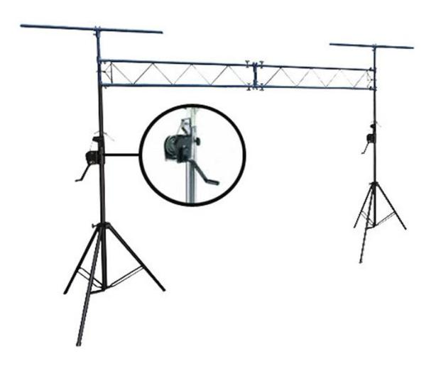 Portable Stage Crank-Up Lighting Truss System Outside