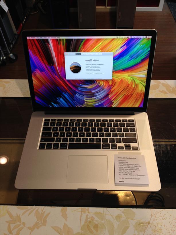 "Retina 15"" MacBook Pro 2.5GHz Intel Core i7 Quad 16GB RAM 500GB SSD w/ Warranty!"