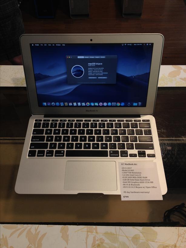 "11"" MacBook Air 1.6GHz Intel Core i5 8GB RAM 128GB SSD w/ Warranty!"
