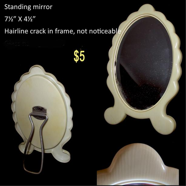 French Ivory Picture Frames & Mirror