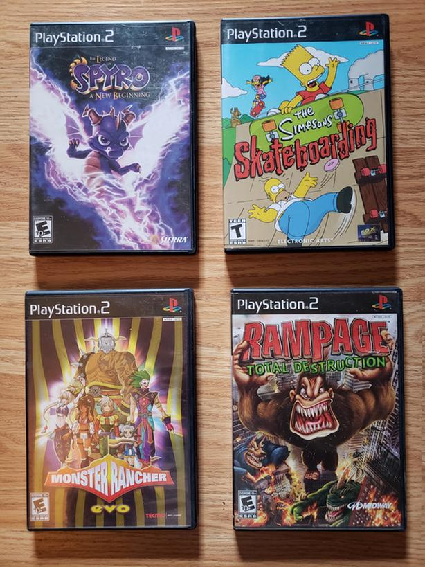 Playstation 2 Ps2 Games Spyro Rampage Monster Rancher Simpsons Saanich Victoria Mobile