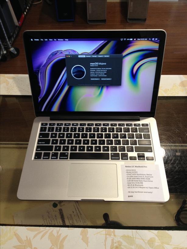 """Retina 13"""" MacBook Pro 2.6GHz i5 8GB RAM 128GB SSD w/ Warranty!"""