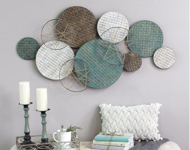 Wall Art Stratton Home Decor Woven Texture Metal Plates With Jute Accents Saanich Victoria Mobile