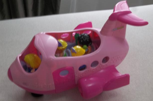 Fisher-Price Little People Spin 'N Fly Airplane - Pink