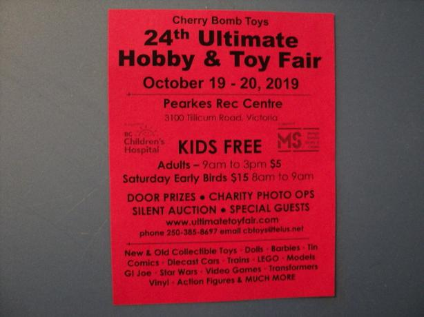 Hobby & Toy Fair in VICTORIA Sat/Sun Oct 19 & 20 KIDS FREE