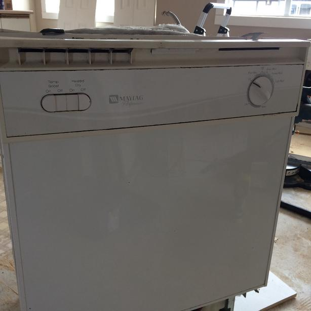 FREE: Maytag dishwasher working white in color