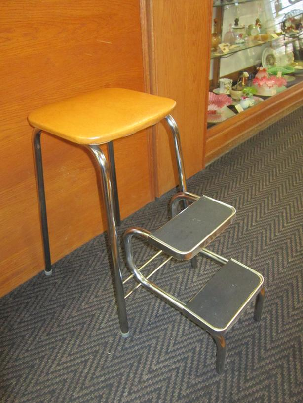 Kitchen Step Stool -- FROM PAST TIMES Antiques - 1178 Albert St