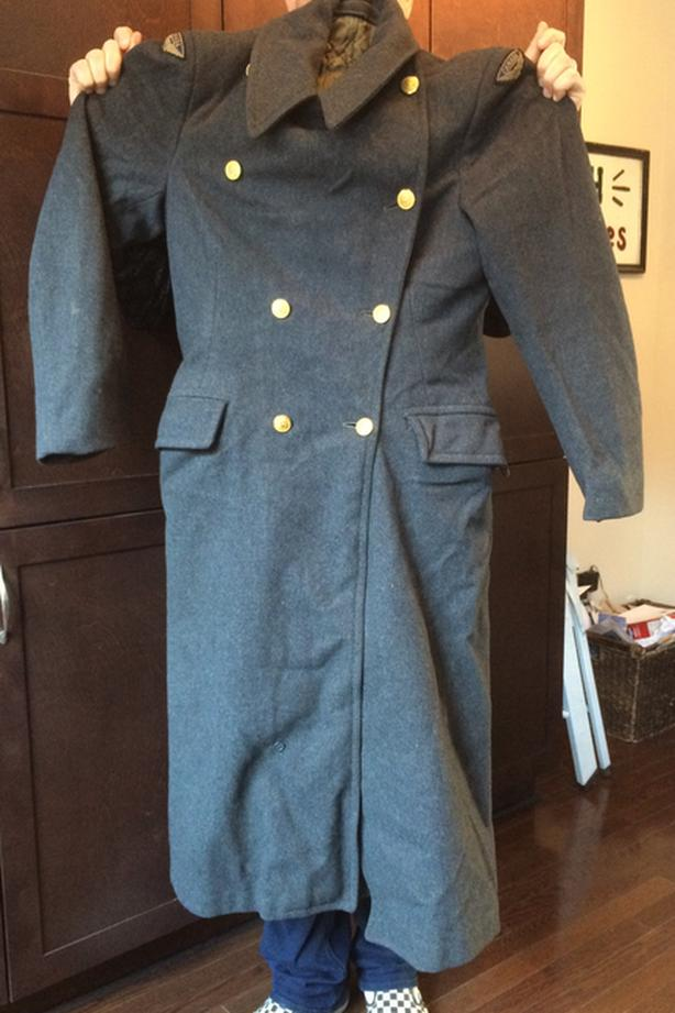 R.C.A.F. WW 2 Men's long wool coat with liner
