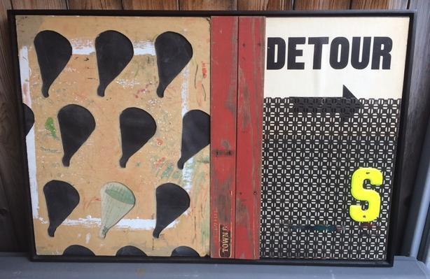 """Erin Vincent large multimedia artwork """"Detour"""""""