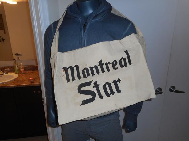 Vintage 1960's MONTREAL STAR Newspaper Carrier Bag never used!